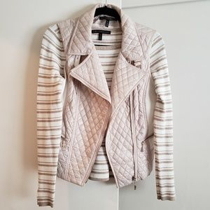 Super Pretty!!! WHBM Sweater + Quilted Vest Combo